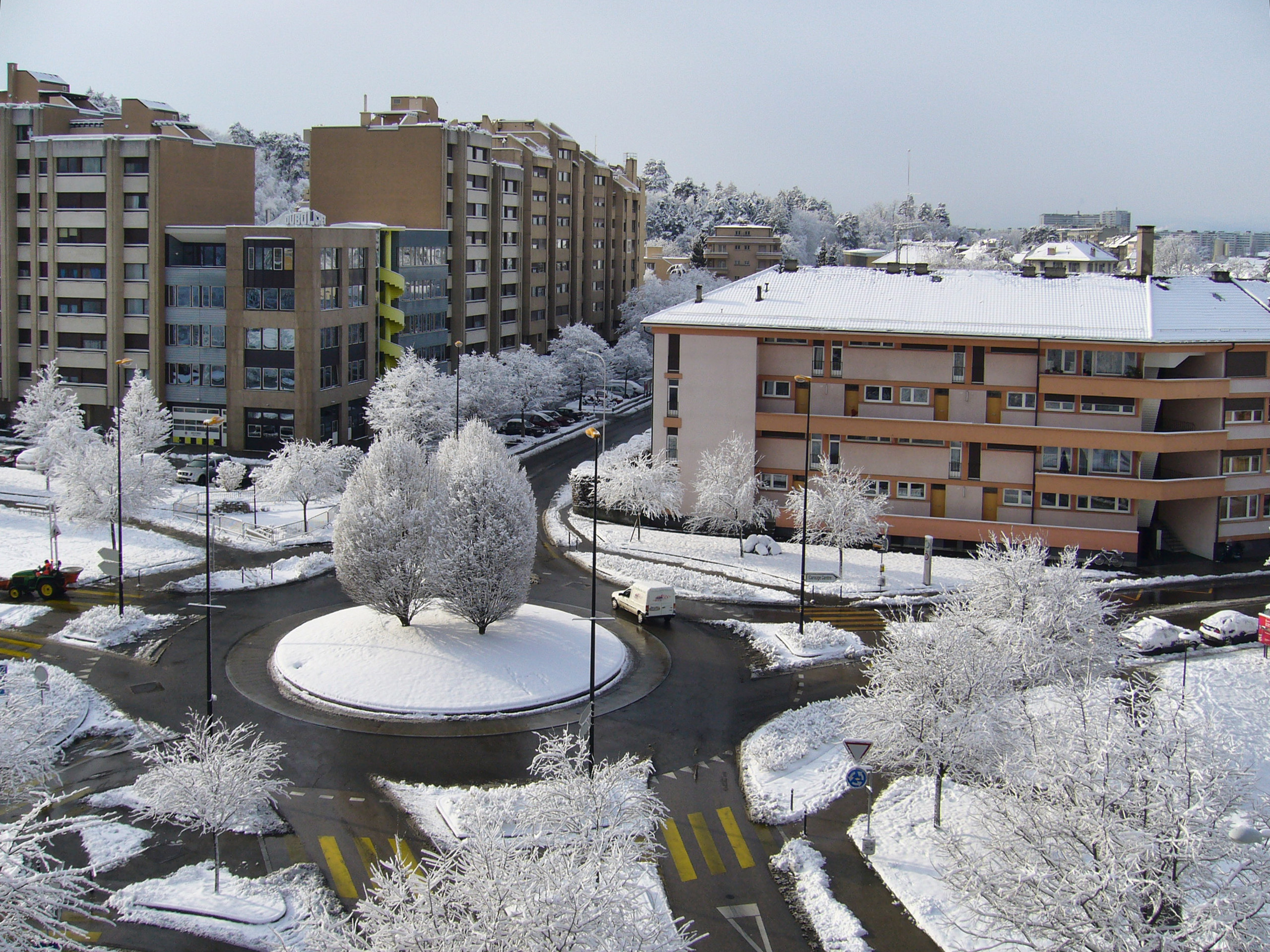 Carouge in the snow. An artsy, bohemian part of Geneva.